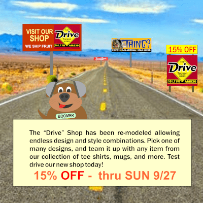 Get 15% off in the new Drive Shop through Sunday!